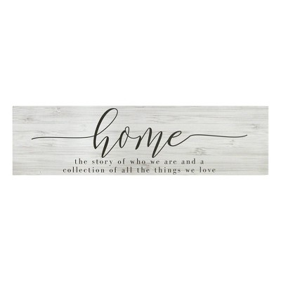 Home Quote Oversized Wall Art Gray - Stratton Home Decor