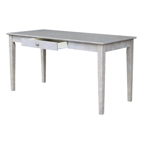 Large Writing Desk With Drawer Washed Gray Taupe International Concepts Target