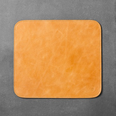 Faux Leather Mouse Pad - Brown - Hearth & Hand™ with Magnolia