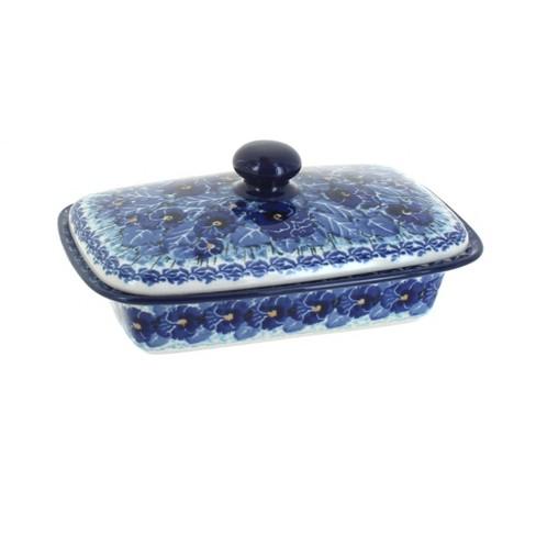 Blue Rose Polish Pottery Joanna Butter Dish - image 1 of 1