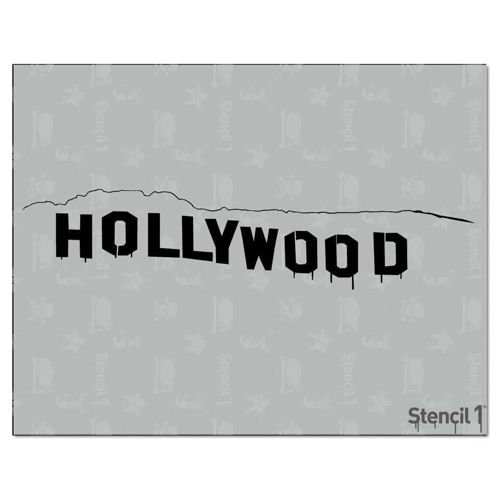 Stencil1 Hollywood Sign - Stencil 8.5