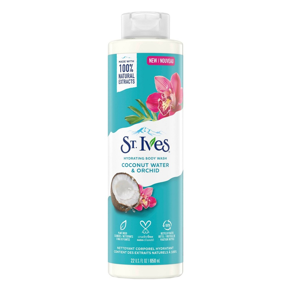 Image of St. Ives Coconut Water & Orchid Plant-Based Natural Body Wash Soap - 22 fl oz