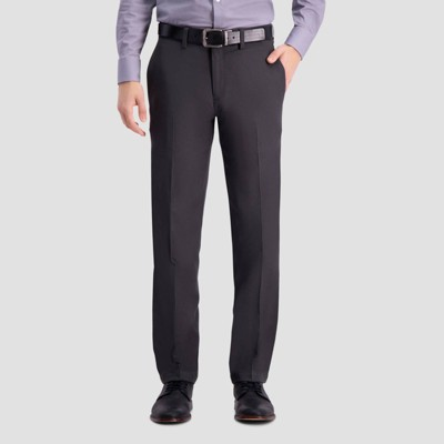 Haggar Men's Cool 18 PRO Heather Straight Fit Flat Front Casual Pants