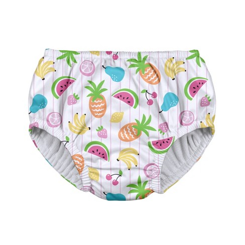 i play Baby Girls' Fruit Pull-up Reusable Swim Diaper - White - image 1 of 1