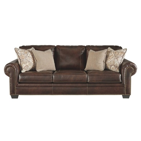 Roleson Queen Sofa Sleeper Walnut - Signature Design by Ashley - image 1 of 4