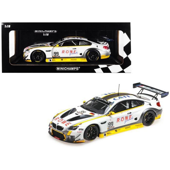 BMW M6 GT3 #99 Martin / Eng / Sims Winners 24H SPA 2016 Rowe Racing Ltd Ed 400 pcs 1/18 Diecast Model Car by Minichamps - image 1 of 2
