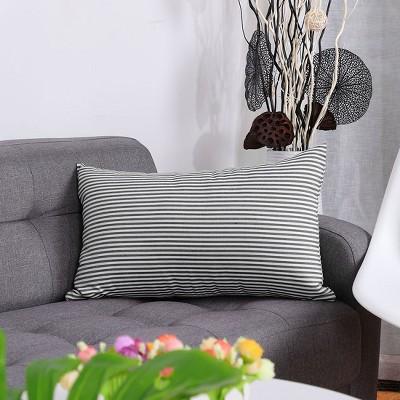 1 Pc Cotton Canvas Plaid  Decorative Pillow Cover - PiccoCasa