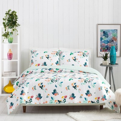 Daydreaming Quilt Set Green/Pink/White - CreativeIngrid for Makers Collective