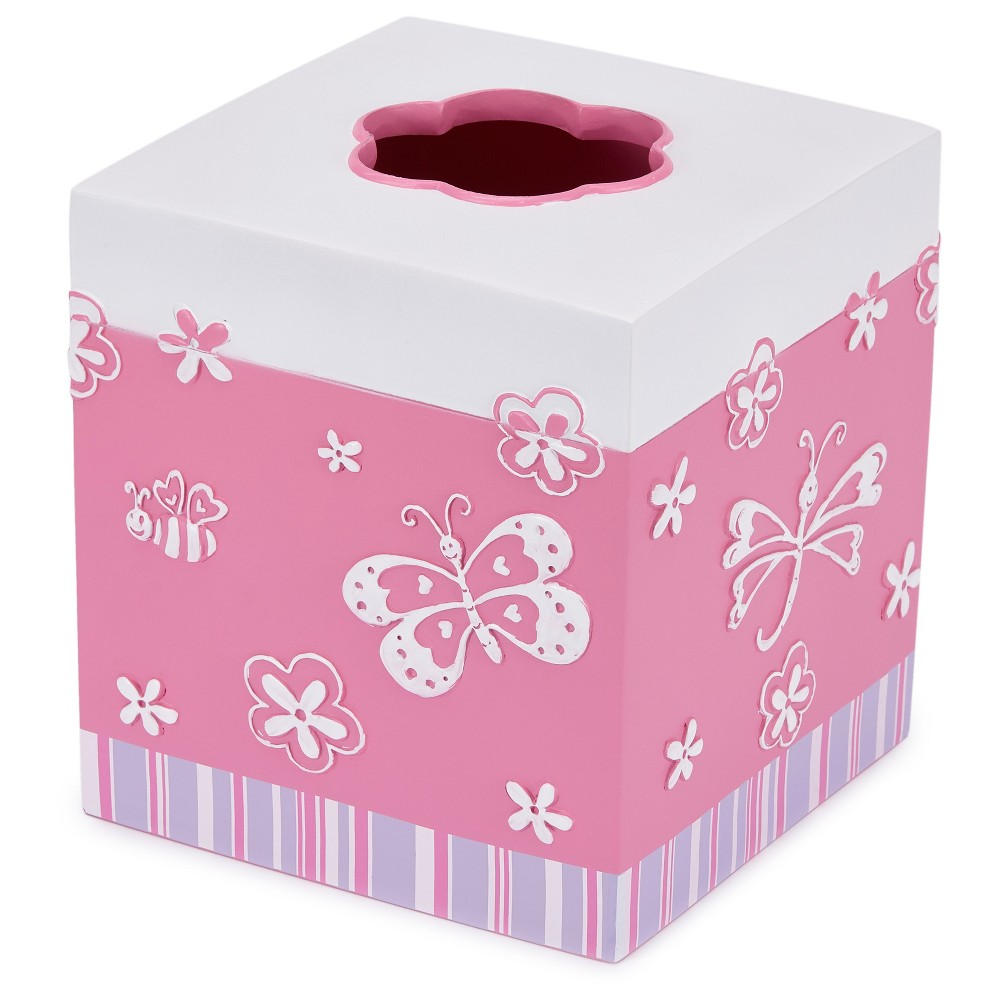 Image of Mariposa Tissue Box Cover - Cassadecor, Pink