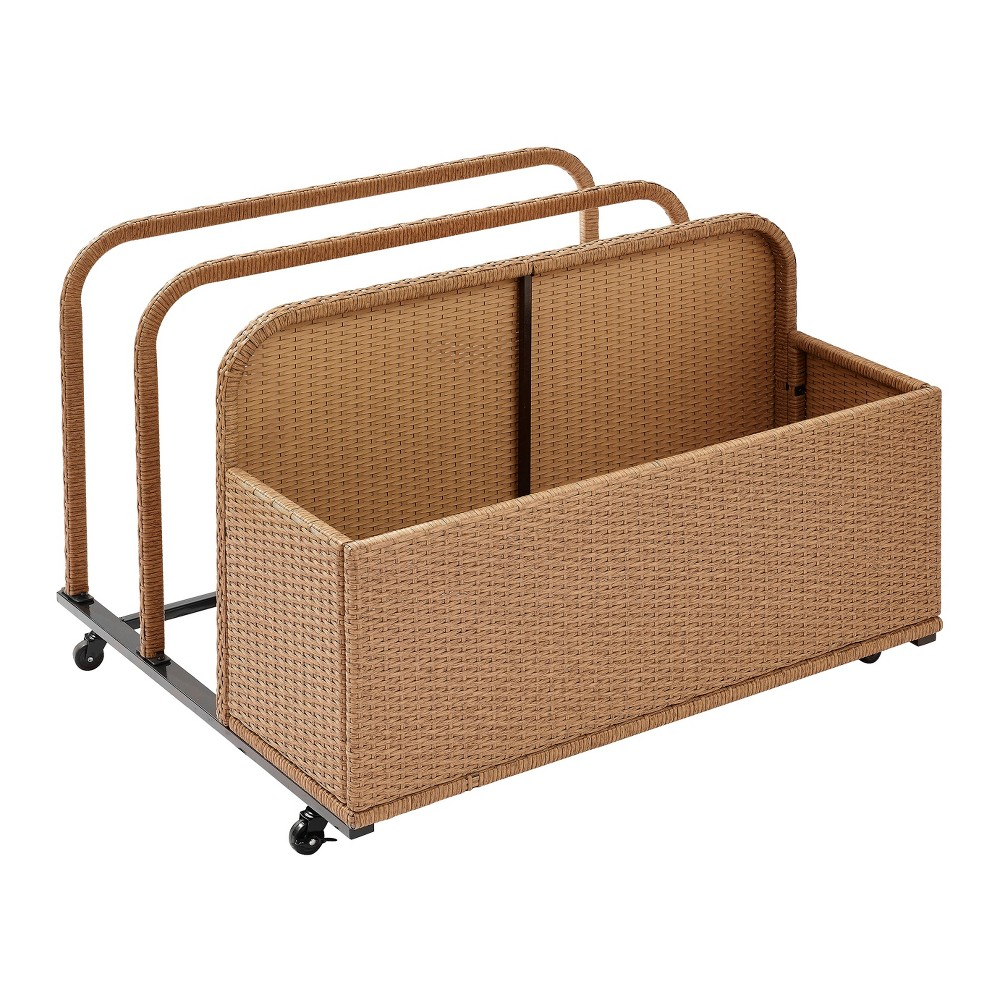 Palm Harbor Outdoor Wicker Float Caddy - Brown