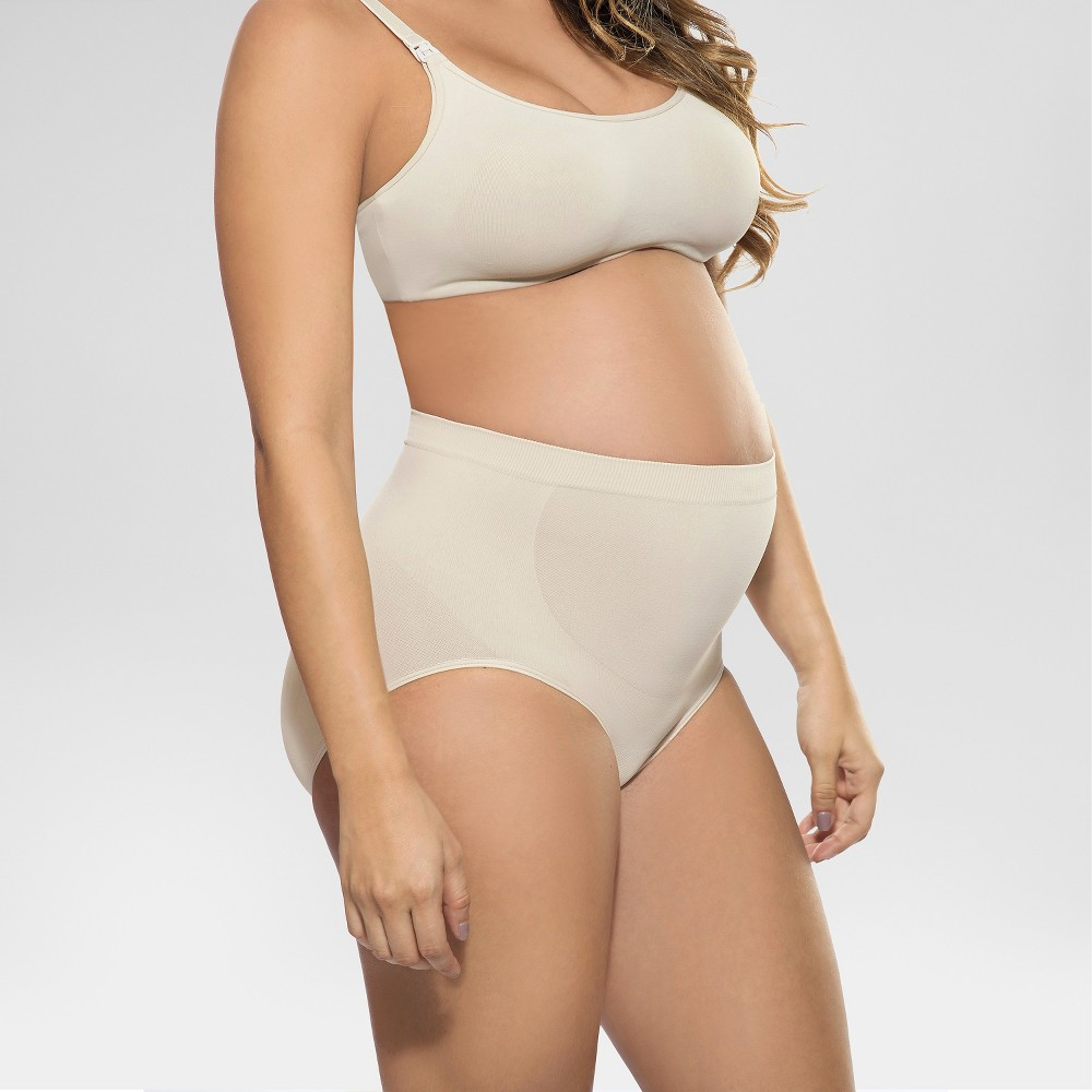Annette Women's Soft and Seamless Pregnancy Panty - Beige L