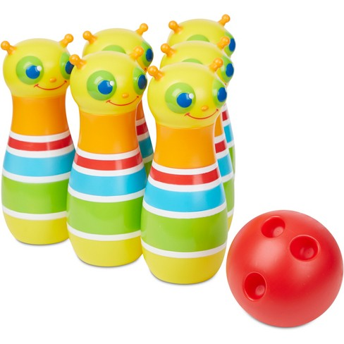 Melissa & Doug Sunny Patch Giddy Buggy Bowling Set with 6 Bug Pins, Bowling Ball and Storage Bag - image 1 of 3