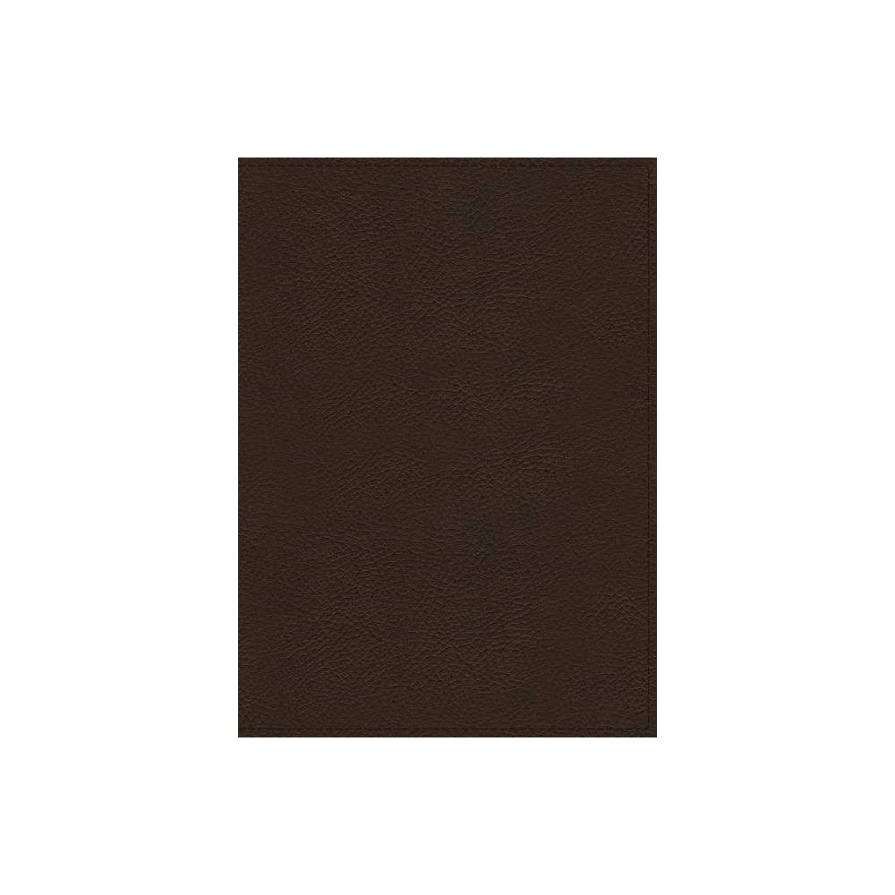 Nkjv, Wiersbe Study Bible, Genuine Leather, Brown, Indexed, Comfort Print - by Thomas Nelson