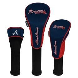 MLB Atlanta Braves 3pk Golf Club Cover Set