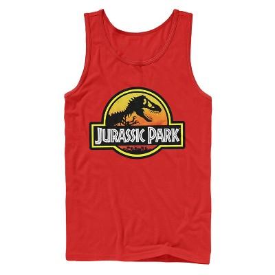 Men's Jurassic Park Logo Outlined Tank Top