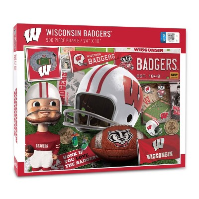 NCAA Wisconsin Badgers Throwback Puzzle 500pc