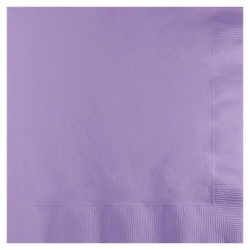50ct Luscious Lavender Purple Disposable Napkins - image 1 of 3