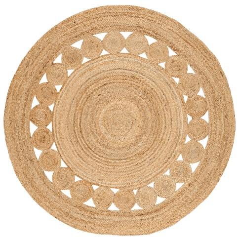 Noemi Solid Woven Round Rug - Safavieh - image 1 of 3