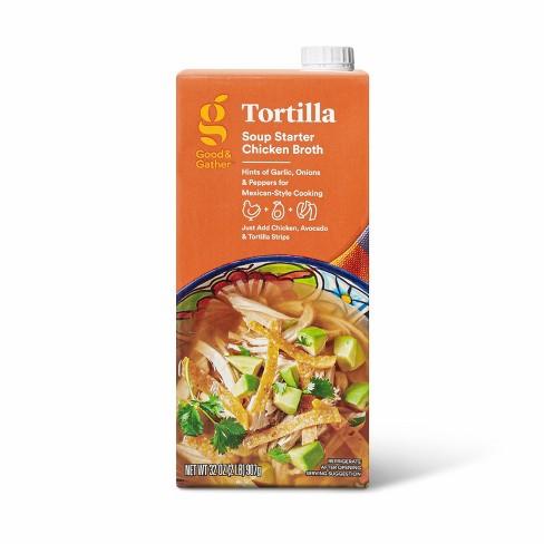 Tortilla Soup Starter Chicken Broth - 32oz - Good & Gather™ - image 1 of 3
