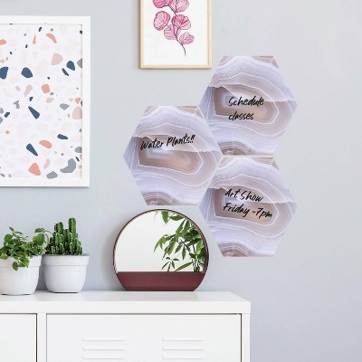 Geode Dry Erase Hexagon Peel and Stick Wall Decal - RoomMates