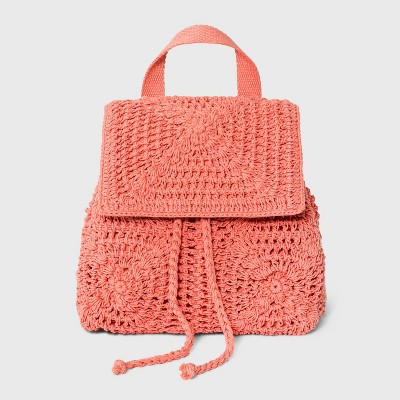 Floral Crocheted Mini Backpack - Wild Fable™