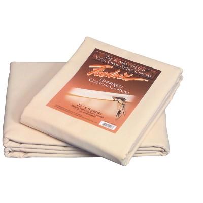 Fredrix Cotton Duck Unprimed Folded Canvas, 72 Inches x 6 Yards, 7 Ounces
