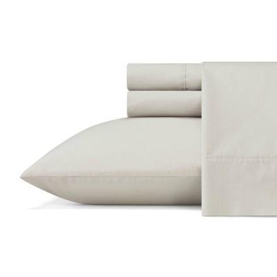 King Organic Cotton Solid Sheet Set Gray - ED by Ellen DeGeneres