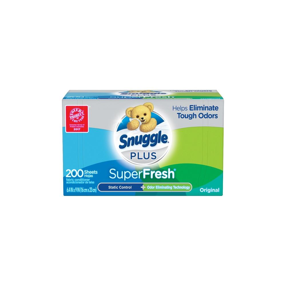 Snuggle Plus SuperFresh Original Fabric Softener Dryer Sheets - 200ct