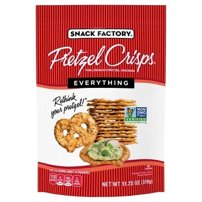 Pretzel Crisps Everything Flavored Pretzel Crackers - 11.25oz