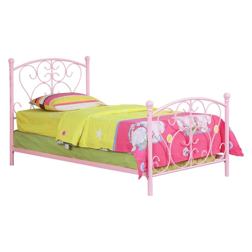 Maureen Kids Metal Bed Pink - Homes: Inside + Out