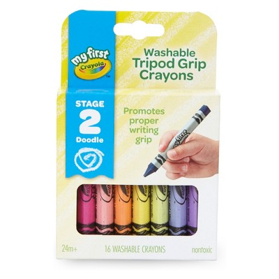My First Crayola 16ct Washable Tripod Grip Crayons Stage 2