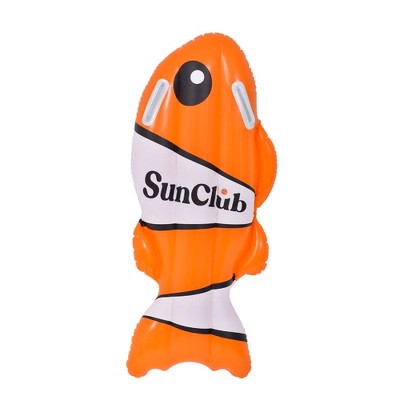 """Pool Central 39"""" Inflatable Orange and White Coy Fish Kickboard"""