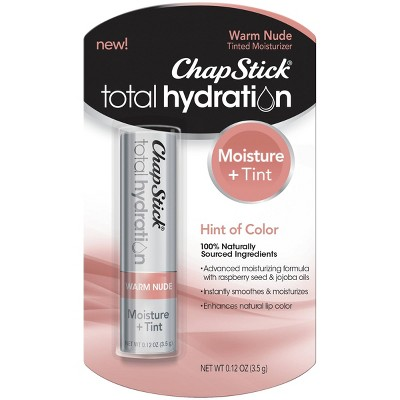 Chapstick Total Hydration Moisture + Tinted Lip Balm - Warm Nude - 0.12oz