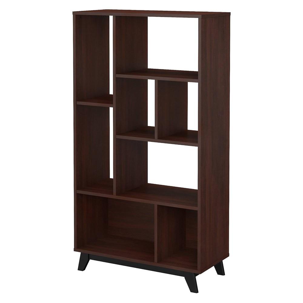 Image of Centura 8 Shelf Bookcase Century Walnut - Kathy Ireland Home
