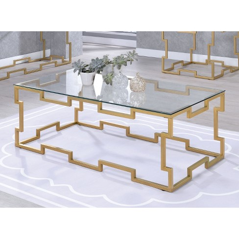 Iohomes Hallenbeck Contemporary Coffee Table Gold Homes Inside Out Target