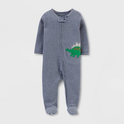 Baby Boys' Dino Interlock Sleep 'N Play 1pc Pajama - Just One You® made by carter's Blue Newborn