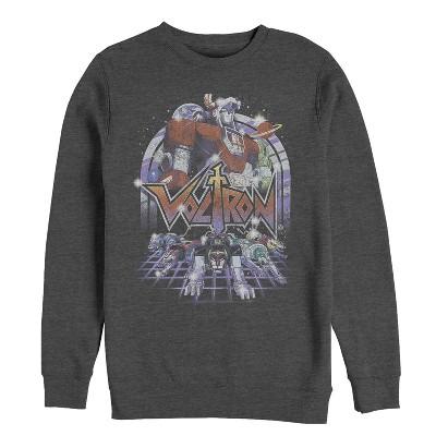 Men's Voltron: Defender of the Universe Retro Robot Lions Sweatshirt