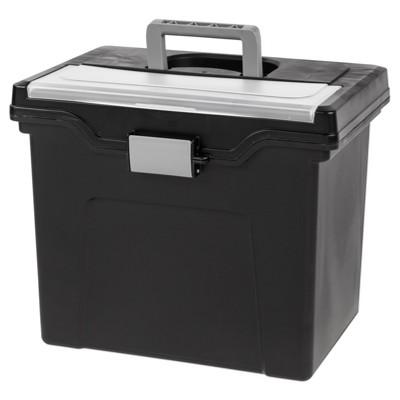 IRIS Portable File Storage Box - 4pk
