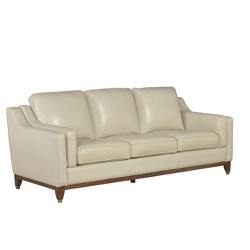 Allie Top Grain Leather Sofa Cream - Abbyson Living