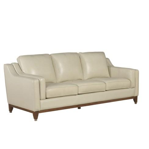 Fine Allie Top Grain Leather Sofa Cream Abbyson Living Inzonedesignstudio Interior Chair Design Inzonedesignstudiocom