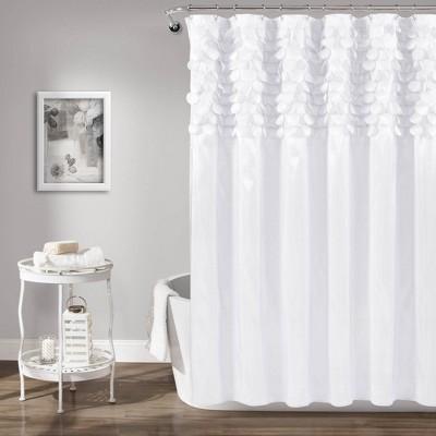 Lillian Shower Curtain White - Lush Décor
