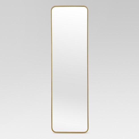 full length door mirror Over the Door Mirror Metal Brass   Project 62™ : Target full length door mirror