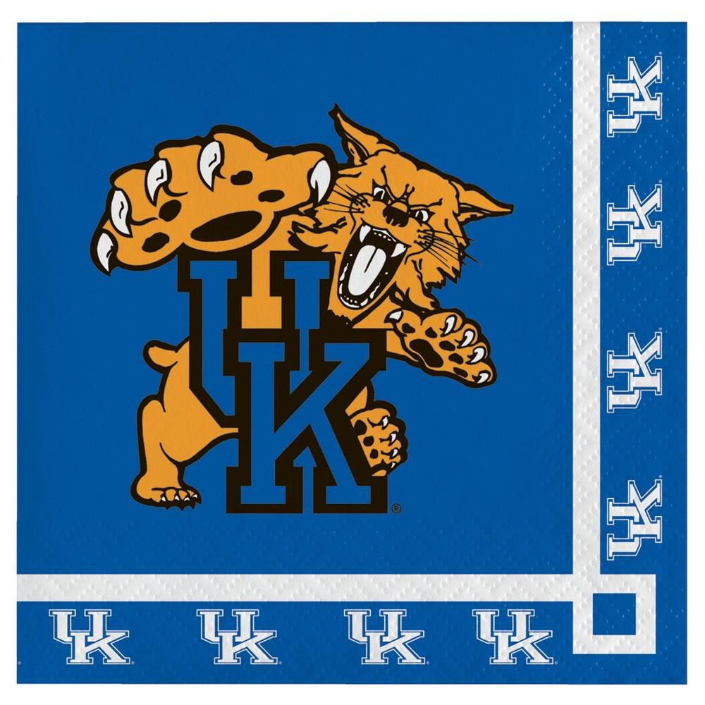 Image of 20ct University Of Kentucky Wildcats Cocktail Beverage Napkins