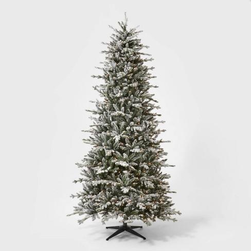 9ft Pre-lit  Artificial Christmas Tree Full Flocked Balsam Fir Clear Lights - Wondershop™ - image 1 of 4