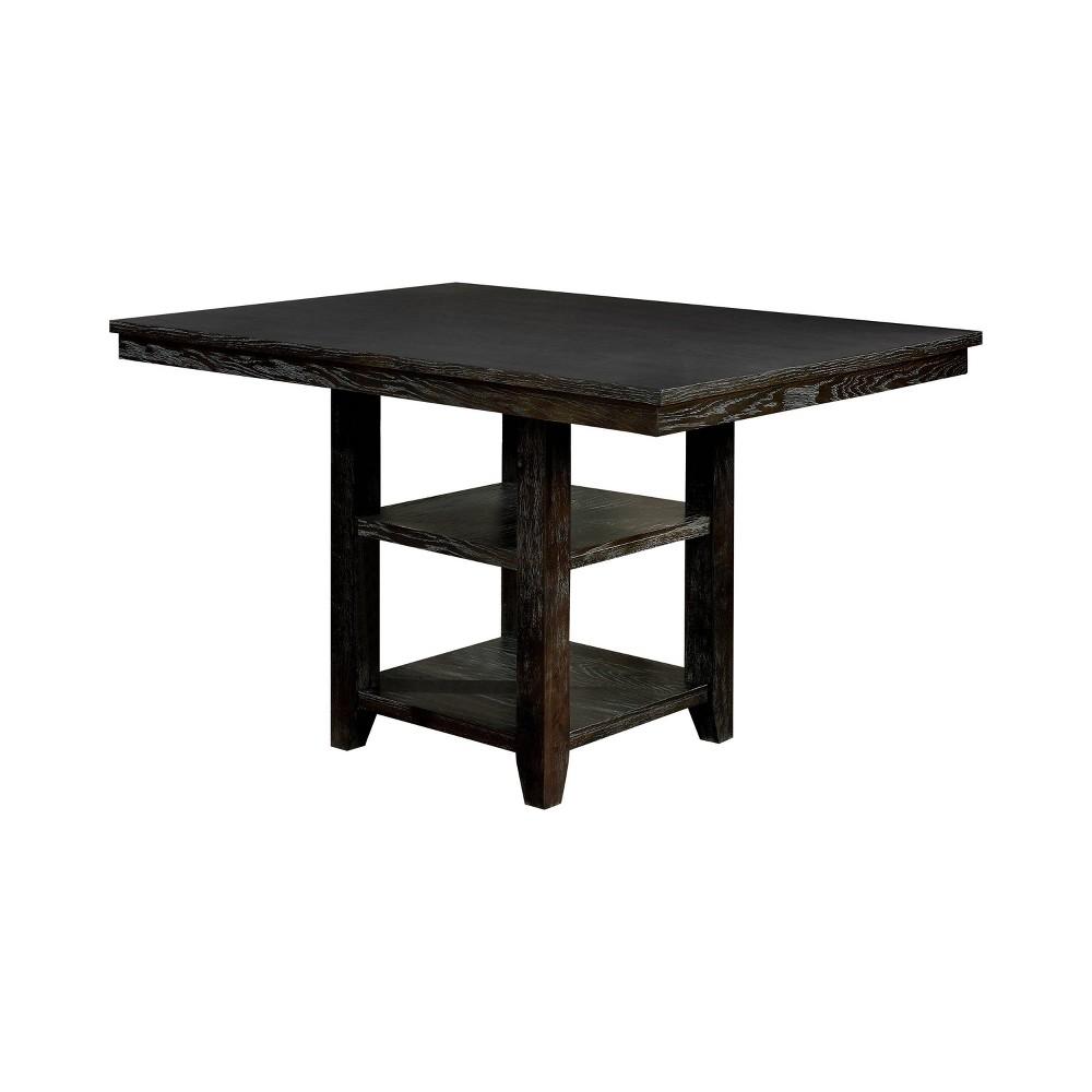 "Image of ""60"""" Charmaine Rectangular Counter Height Table Dark Walnut - ioHOMES"""