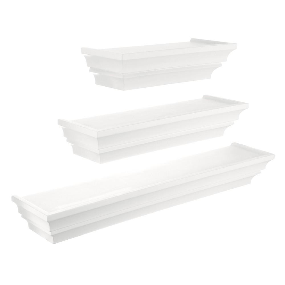 Image of Madison Decorative Wall Ledge Shelf Set of 3 - White
