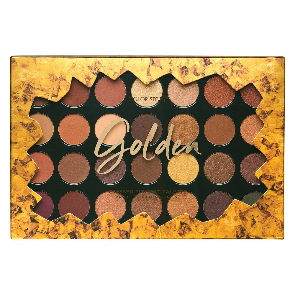 Image of Color Story Holiday Golden Eyeshadow Palette - 28 Shades/1.76oz