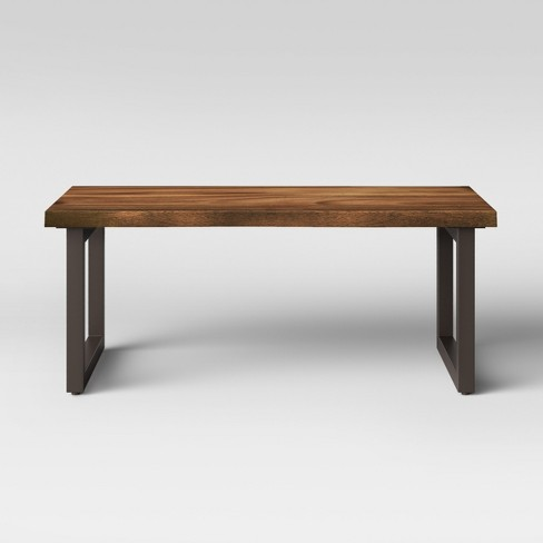 Thorald Wood Top Coffee Table With Metal Legs Brown - Project 62™ - image 1 of 4
