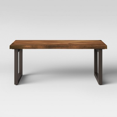 Superbe Thorald Wood Top Coffee Table With Metal Legs Brown   Project 62™