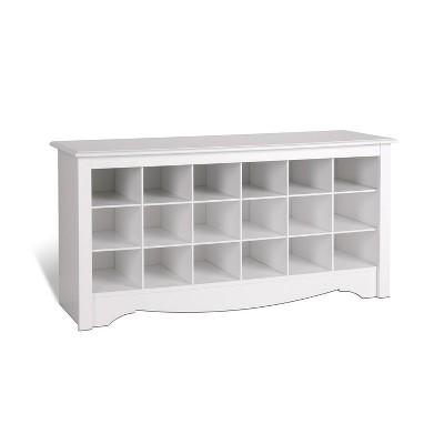Shoe Storage Cubbie Bench White - Prepac